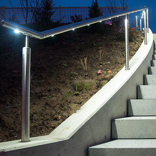 Handrail with LED Spotlights