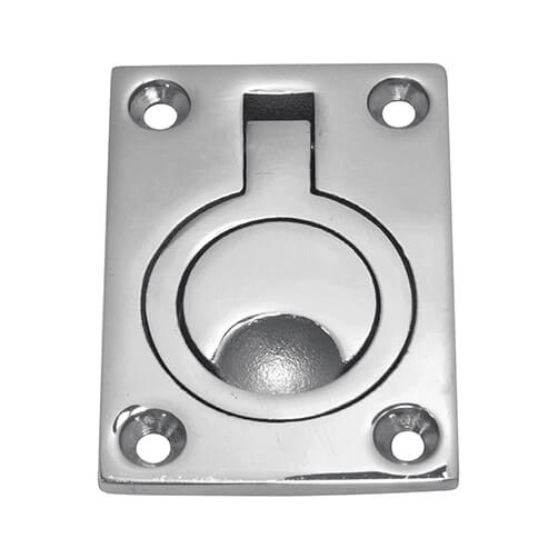 Ring Pull Lift Handle - Rectangular Plate