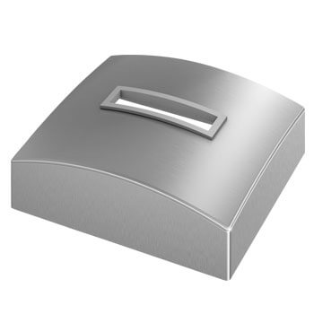 Linear Line Baluster Post Base Cover Cap - 316 Stainless Steel