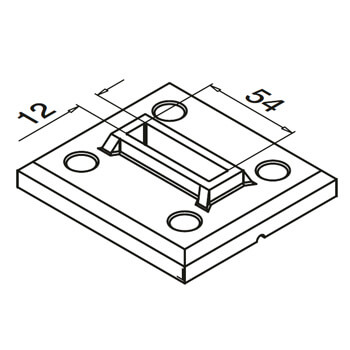 Linear Line Baluster Base Flange - Detail