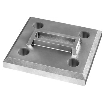 Linear Line Baluster Base Flange - 316 Stainless Steel