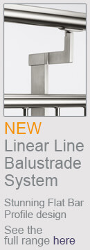 Linear Line Balustrade - Contemporary Flat Bar Profile Design