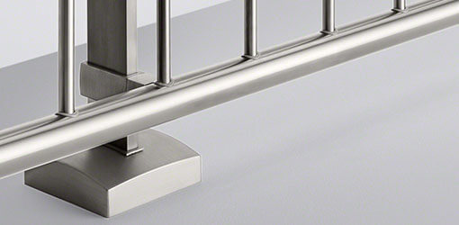 Linear Line Stainless Steel Baluster Base Cover Caps