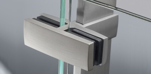 Linear Line Stainless Steel Glass Clamps and Glass Holders