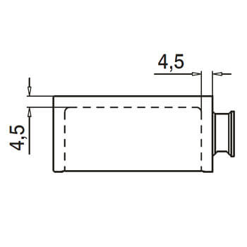 Linear Line Baluster Mounting Adapter - Top - Detail