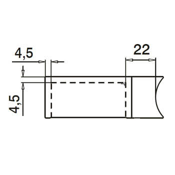 Linear Line Baluster Mounting Handrail Adapter - Detail