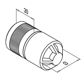 Stainless Steel In-Line Tube Connector - 33.7mm - Detail