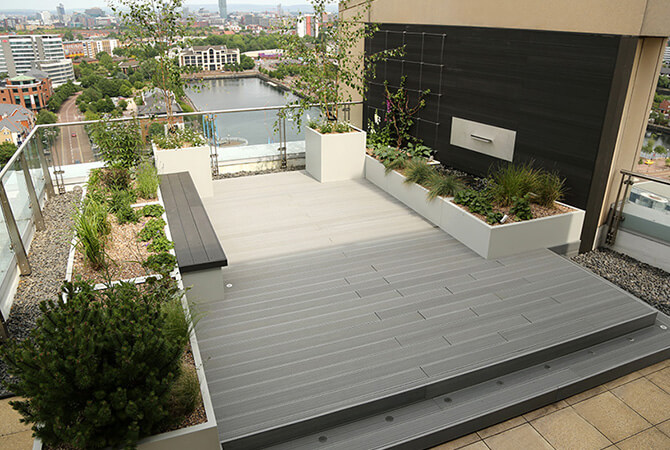Green Wall Wire Trellis System for Rooftop Garden