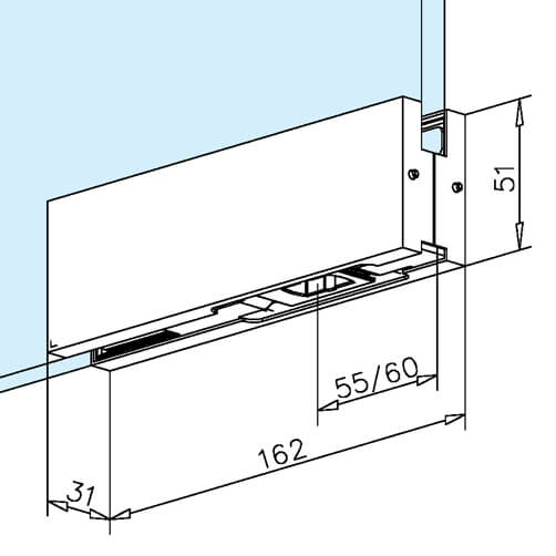 Glass Door Patch Fitting - Lower Corner - Dimensions  sc 1 st  S3i Group & Glass Door Patch - Lower Corner - Stainless Steel | S3i Group pezcame.com