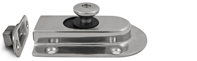 Magnet Slide Latch with Strike Plate - 316 Stainless Steel