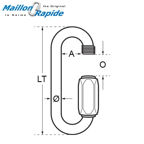 Maillon Rapide Quick Link Large Mouth Diagram