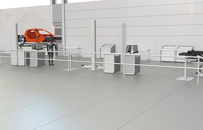 Proposed balustrade design created for McLaren.