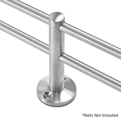 Double Mid Post Bracket With 6mm Double Bar Railing