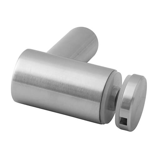 Stainless Steel Glass Adapter-Spider - Flat Mount - 30mm