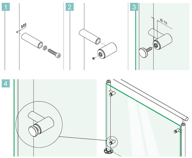 Glass Adapter - Tube Mount Installation