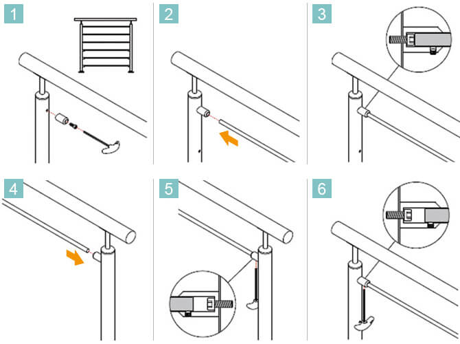 Cross Bar Instructions In-line - Tube