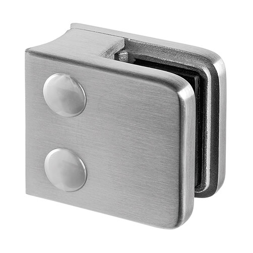 Stainless Steel Glass Clamp - Square - 6mm to 10mm Glass Thickness - Tube Mount
