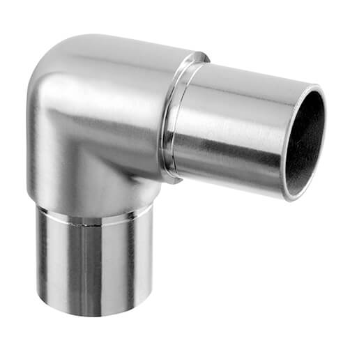90 Degree Smooth Radius Tube Connector - Modular Stainless Steel Balustrade