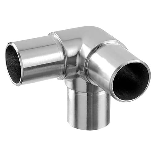 3-Way Tube Connector - Modular Stainless Steel Balustrade