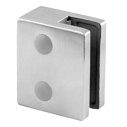 Stainless Steel Glass Clamp - Square - 8mm to 12.76mm Glass Thickness