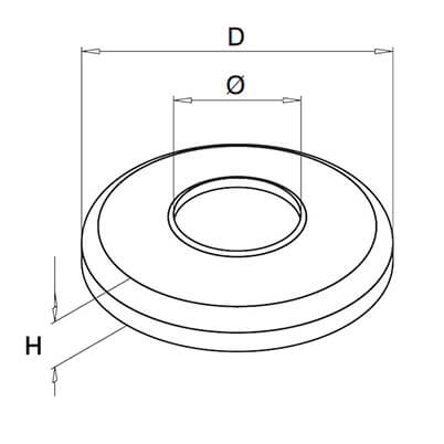 Corrosion Resistant Duplex Stainless Post Cover Technical Drawing