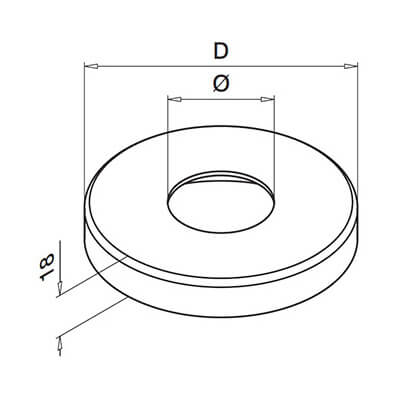 Stainless Steel Balustrade Base Cover Plate Diagram