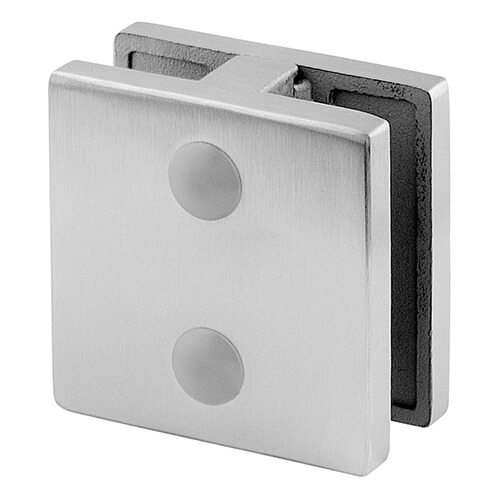 Stainless Steel Square In-Line Glass Connector - for Glass up to 12.76mm Thickness