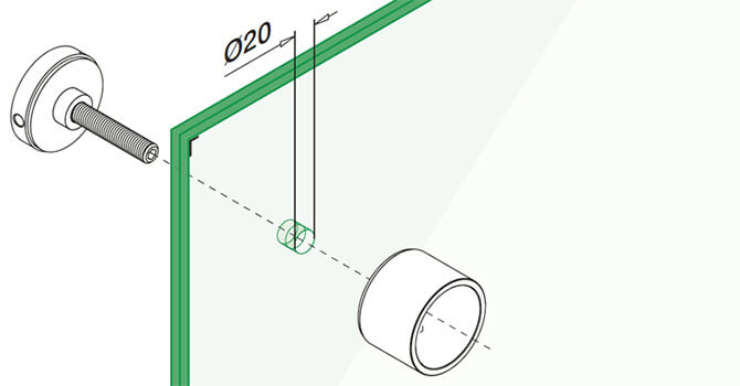 Stainless Steel Long Round Glass Clamp - Installation Advice