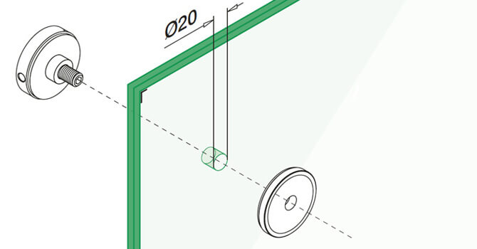Stainless Steel Short Round Glass Clamp - Installation Advice