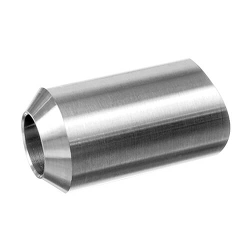 Stainless Steel In-Line Cross Bar End Piece for Tube Fixing to Bar Mount