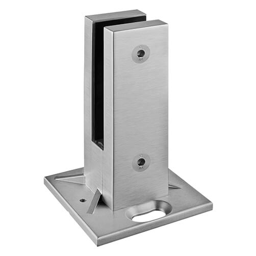 Stainless Steel Square Floor Mounting Base Glass Clamp