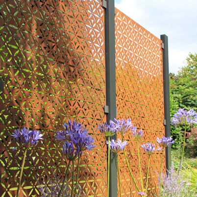 Motif Garden Screen Kit - Corten Steel