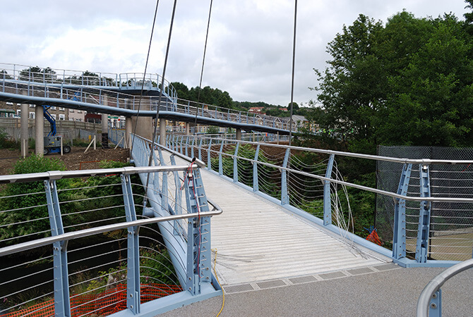 Stainless Steel Wire at Newbridge Pedestrian Footbridge