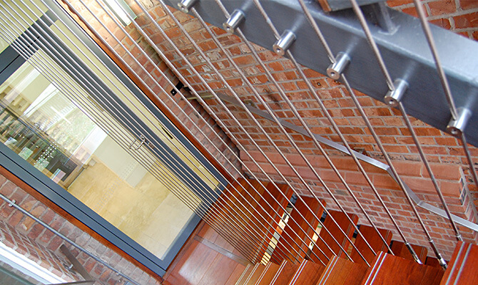 Vertical Wire Balustrade Installation