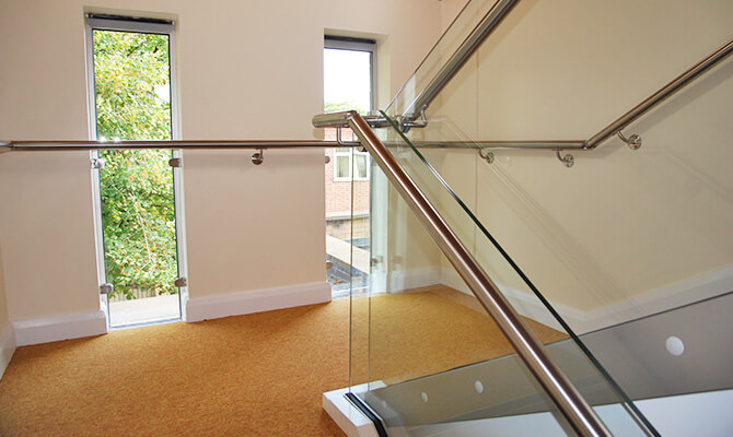 Nottingham School Balustrade Installation