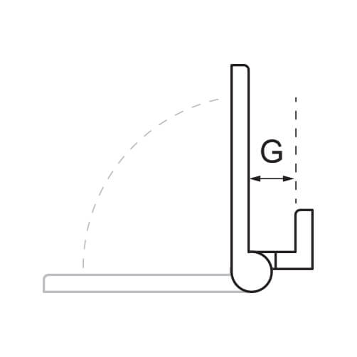 Offset Hinge - Closure Dimension