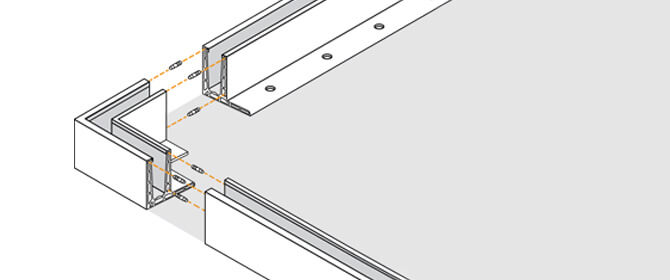 F Shape Profile Connection -  Frameless Pro Glass Balustrade