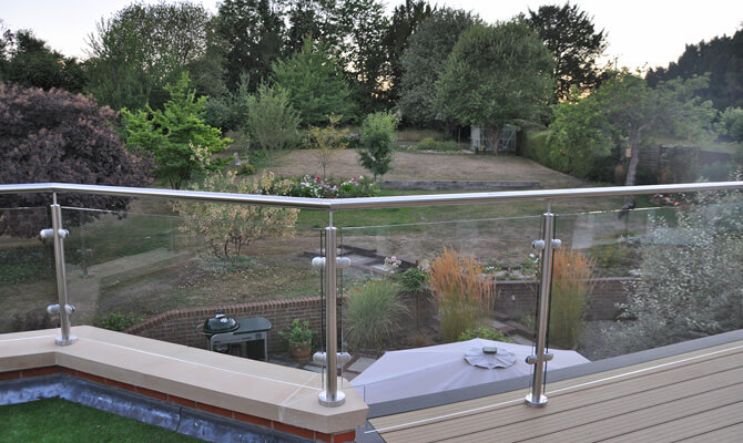 Perfectly Positioned Custom Glass Balustrade Infill