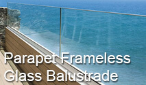 Easy Glass Up - Parapet Frameless Glass Balustrade System