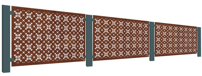 RHS Parterre Balustrade Screen Kit - Corten Steel