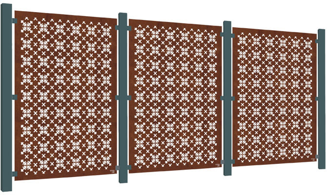 RHS Parterre Decorative Garden Screen Kit - Corten Steel