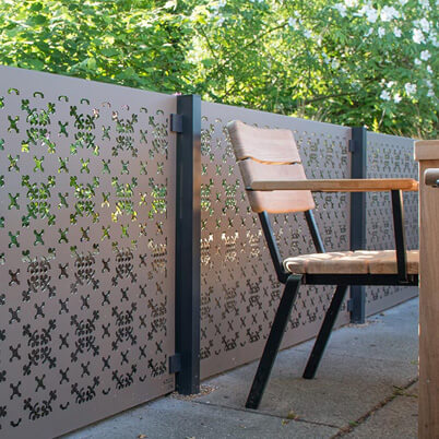 RHS Parterre Balustrade Screen Kit - Aluminium
