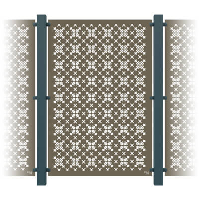 RHS Parterre Garden Screen - 3 Panel Kit - Aluminium   S3i ...