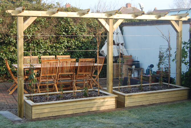 Pergola with Balustrade Wire