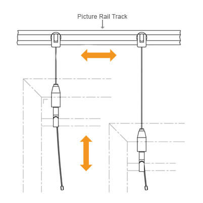 Display Hook With Wire - Position