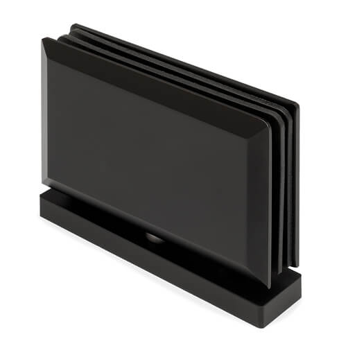 Pivot Glass Swing Door Hinge - Anthracite Black Finish