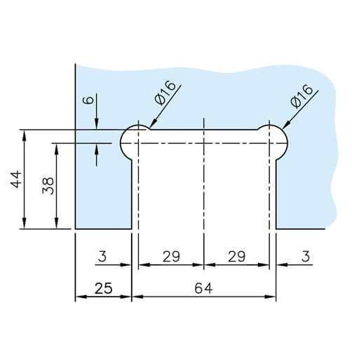 Pivot Glass Swing Door Hinge - Glass Drilling