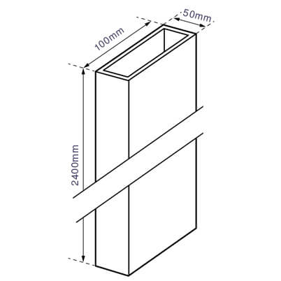Post for Garden Screens - Dimensions