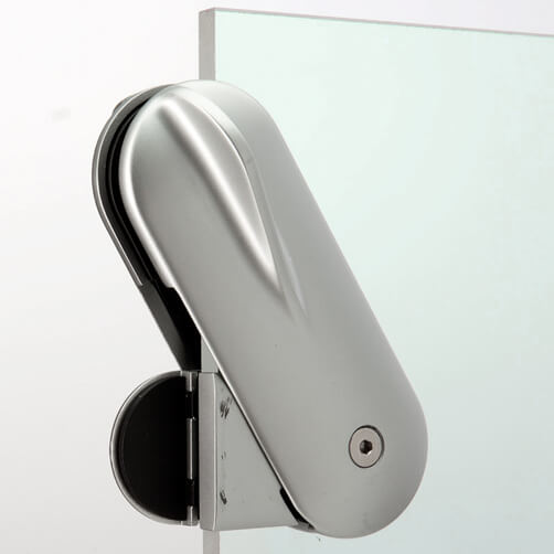 Premium Stainless Steel D Shaped Glass to Glass Door Lock