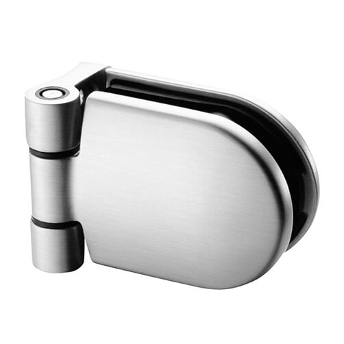 Premium Stainless Steel Tube to Glass Hinge - D-shaped Clamp